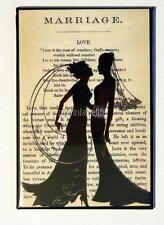 "Vintage Lesbian Wedding Marriage Poem 2"" x 3"" Fridge MAGNET Art Bride Gay LGBT"