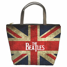 New The Beatles Vintage Union Jack Flag Bucket Bag/Handbag/Purse (2 Side) Gift