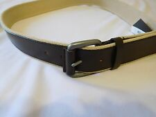 Cole Haan Mens Belt Feather Edge Smooth Panel Brown Size 42 NWT -- New