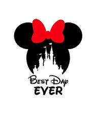 DISNEY******MINNIE MOUSE CASTLE BEST DAY EVER ::::::::::T-SHIRT IRON ON TRANSFER