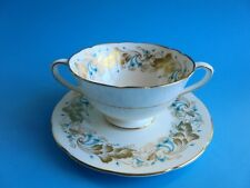 COALPORT STRANGE ORCHID SOUP COUPE AND UNDER PLATE LIKE NEW