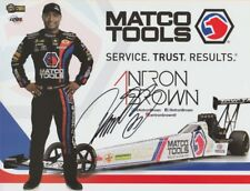 2018 Antron Brown signed Matco Tools Top Fuel NHRA postcard