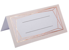 Rose Gold Design Place Cards x 25 - Wedding / Party Table