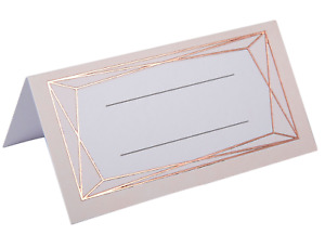 ROSE GOLD PLACE CARDS - WEDDING DAY / PARTY