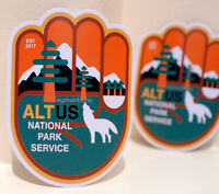 """#3453 ALT US National Park Badge style 3x4"""" Luggage Label Decal Sticker"""