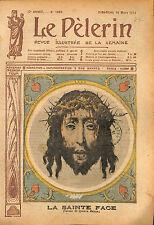 Portrait la Sainte Face Jésus Quentin Metsys peintre flamand 1913 ILLUSTRATION