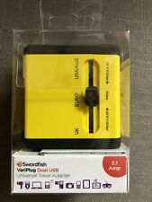 Swordfish VariPlug Dual USB Universal Travel Holiday Adapter Plug 40254 New