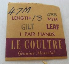 LeCoultre set of hands for movement cal  438 47 gilt