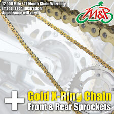 Honda XL250 RC Pro-Link 1982 Gold XRing Chain and Sprocket Kit
