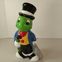 """Disney 9.5"""" Gloss Varnish Jiminy Cricket Ceramic Pinocchio Statue"""