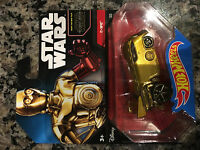 Hot Wheels Car Star Wars C-3PO Robot Gold Red Arm Rare number 30