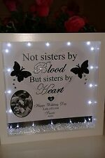 Personalised friend, birthday, thank you,gift with  crystals, diamantes & lights