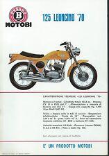 Motobi Pesaro Volantino (Sheet) Leoncino 70 -  125 cc. Ciclomotore fine anni 60