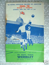 1950 FA Cup FINAL Official Programme- ARSENAL v LIVERPOOL , 29th April- Org*