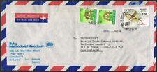 Sri Lanka 1985. Airmail cover to Czechoslovakia. Birds. Re-valuation.
