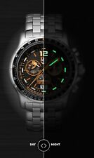 Luminox New Original 9382 F-35 Lightning Stainless Steel Chrono Blk/Orange Dial