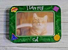 New listing Cat Photo display I Love My Cat treat tin new