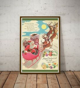 """1949 Night Before Christmas Book POSTER! (up to 24"""" x 36"""") - Santa Claus - Back"""