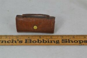 old sewing kit leather suitcase purse shape contents dates 1890-1900 original vg