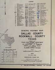 GENERAL HIGHWAY MAPS OF ALL COUNTIES IN TEXAS 1960 Softcover Book