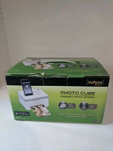 VuPoint Solutions Photo Cube Compact Photo Printer IP-P10-VP Apple Android EUC