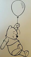 "Winning the pooh vinyl sticker approx  8""x4""  also available in white"
