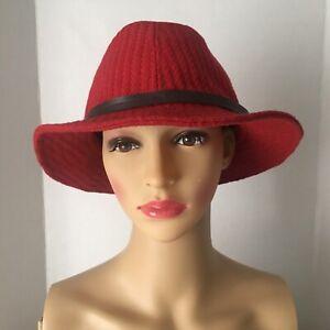 Vintage Scala Pronto Panama Wool Hat Fully Lined. Women's