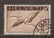 Switzerland Sc C15 used 1930 2f Bird on grey, VF