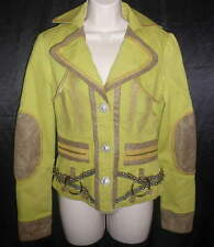 ** NICOLA BERTI ** Gorgeous Boho Hippie Funky Applique Zipper Jacket Size S