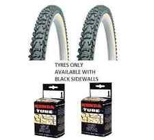 Kenda Tyre Smoke Grippy 26 x 1.95 Mtb Bike 2X Black Tyres + Schrader Tubes KT95A