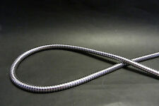 """Highway Hawk Chrome Motorcycle Oil/Fuel Line Cover - 1m Long - 3/8""""- BC730 - T"""