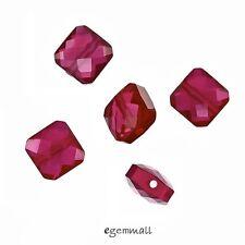 6 Lab Ruby / Synthetic Corundum Square Cushion Beads 6mm Fuchsia Red #96126