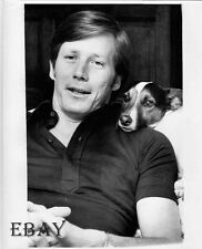 Peter Strauss w/dog VINTAGE Photo