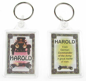 """NOVELTY NAME KEYRING PRINTED BOTH SIDES WITH ORIGIN & MEANING, LETTER """"H"""" UK NEW"""