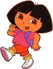 DORA THE EXPLORER Large Window Cling Decal Sticker (Childrens Television) -NEW