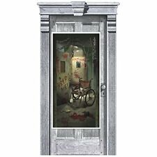 Asylum Door Cover Halloween Party Decorations Door Bloody Psycho Scene Setter