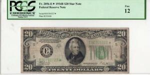 1934-B* $20 FRN FR. 2056-E* F-12 PCGS Star Note
