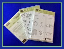 Stampin' Up! SHOOTING STAR, MOON BABY Stamps & SLIDING STAR Framelits ***NEW***