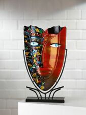 Sublime - Picasso Tribute Art Glass Face Vase On Stand FREE WORLDWIDE SHIPPING