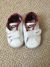 Nike Baby Shoes 1.5 Trainers White Velcro Pink Eur 17