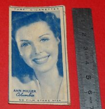 CINEMA 1947 TURF CIGARETTES CARD FILM STARS 24 ANN MILLER  HOLLYWOOD ACTRICE