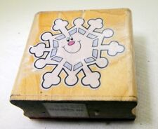 Snowflake Rubber Stamp detailed 5X5cm CD-8554 by Carson-Dellosa Christmas vintag