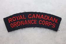Original WW2 Royal Canadian Ordnance Corps Cloth Uniform Flash (Patch)
