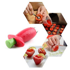 Strawberry Gem Berry Stem Leaves Huller Remover Kitchen Fruit Corer Tool