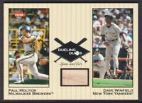 2002 Greats of the Game Dueling Duos Game Used Dave Winfield BAT NY/Paul Molitor