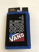 New VANS Men's Sport Skater Surfer Logo Street Style Tri Fold Wallet Black