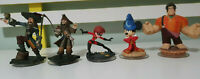 DISNEY INFINITY TOYS FIGURINES MICKEY MOUSE BARBOSA WRECK IT RAPLH MRS INCREDIBL
