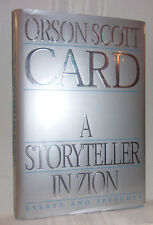 Orson Scott Card A STORYTELLER IN ZION First ed SIGNED Mormons ENDERS GAME SF HC