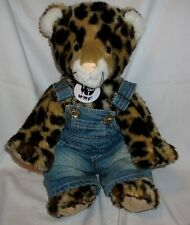 """Build a Bear Spotted Leopard 16"""" Plush WWF"""