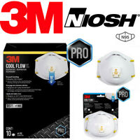 3M 8511 N95 Cool Flow Valve Protective Face Mask Cover NIOSH Respirator 2 5 PACK